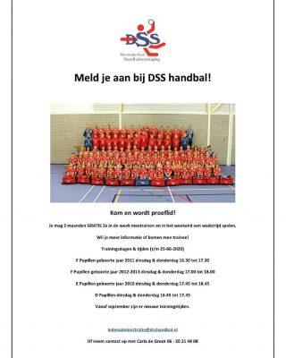 Geen schoolhandbal toernooi dit jaar, en daar komen wel onze nieuwe leden vandaan! DSS laat je horen en deel zoveel mogelijk!