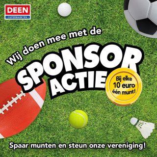 Vanaf zondag allemaal je boodschappen doen bij de Deen op de Maerten van Heemskerckstraat in Heemskerk en de sponsormunten in de buis van DSS doen! 2 weken lang sparen en kan aardig wat geld op leveren voor DSS :)
